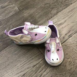 Toddler girls Vans slip on unicorn shoes, 5.5